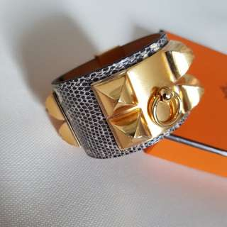 NEW HERMES CDC BRACELET OMBRE GHW SMALL