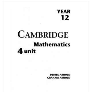 PDF Black and White Cambridge Year 12 Mathematics 4 unit textbook