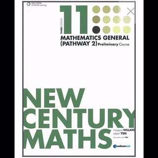 New Century General Mathematics Year 11 (Pathways 2) 3rd Edition