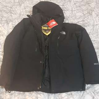 North face Gortex Jacket goose feather inner