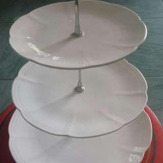 3-Tier Ceramic Snack Server
