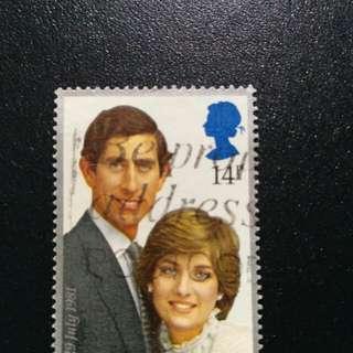 英國戴安娜郵票1981