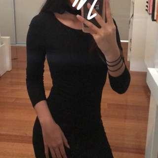 Long Sleeve Choker Dress