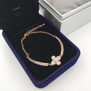 玫瑰金色閃石手鍊 Bracelet