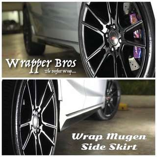 Custom side skirt wrapping for any cars