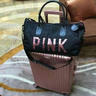 Beli koper rimowa gratis travel bag Victoria secret pink (baca keterangan)
