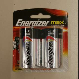 [SALE] Energizer Max size D 1.5V Battery (2pcs)