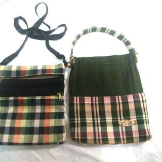 Native bag with free water bottle cover/bag