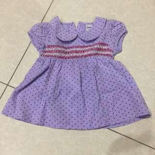 Dotted purple dress