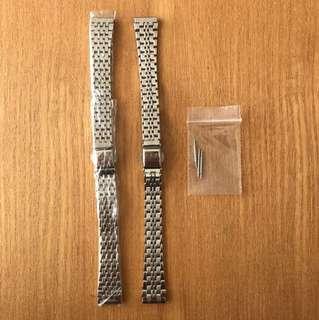 13mm 手錶鋼帶 (全新,$45兩條)