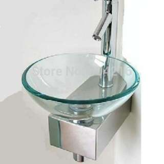 Stainless steel glass bowl basin mount
