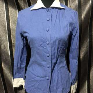 Unique Polo with wing collar, w/ very nice quality