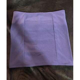 Guess Purple Bandage Skirt
