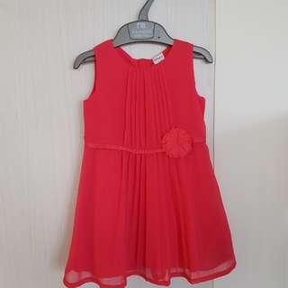 Red toddler / kid dress