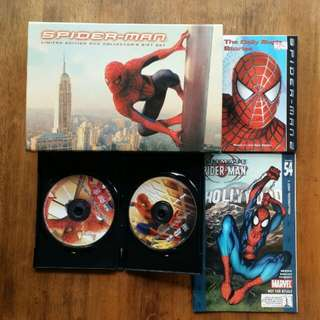 Spiderman DVD set ( limited edition collector's gift set )