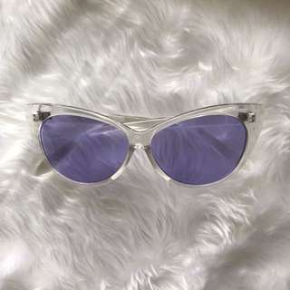 Purple Clear Tinted Frames