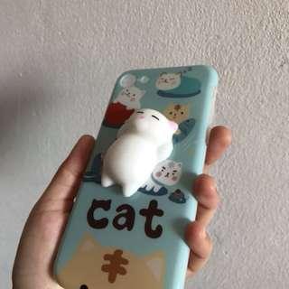 Iphone 7 Squishy Cat casing