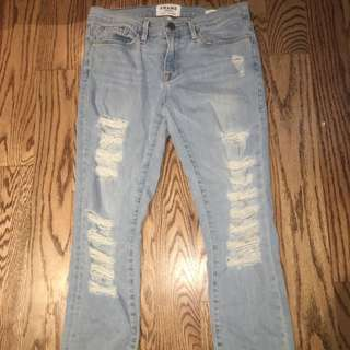 ripped jeans from Frame Denim