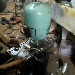 Kompresor kecil tanpa suara untuk airbrush dan mengecatan lainya sistem semprot daya angin kuat