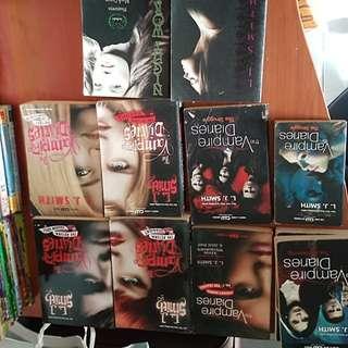 L J Smith vampire diaries , dark vision, night world