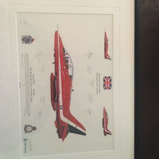 Rare autograph Red Arrows picture