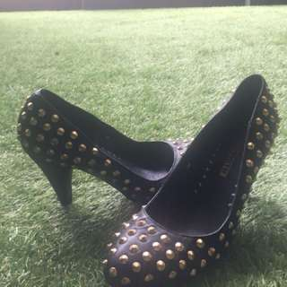Windsor Smith gold studded heels