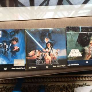 Laser Disc of Star Wars 3 pcs , back to the future