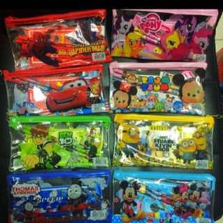 INSTOCK PENCIL CASE SET WITH STATIONERY goody bag goodie bag