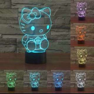 Hello Kitty 3D Electric Visualization Optical Lamp Color Changing LED Lights