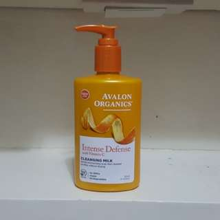 Brand New Avalon Organics Intense Defense Cleansing Milk