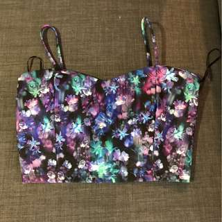 Brand New Without Tags Floral Crop Top