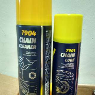 CHAIN CLEANER & CHAIN LUBE