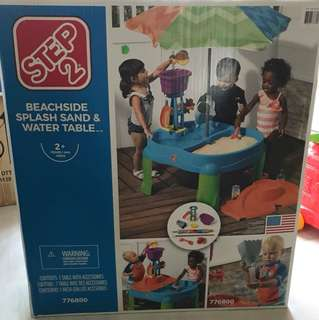 Step 2 Beachside splash sans & water table
