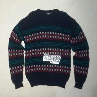 Lobo By Pendleton USA Knit Wool Sweater Second Bekas Branded
