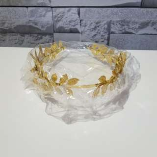 💖金色髮箍 結婚