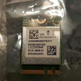 Qualcomm Atheros QCNFA344A 802.11ac wireless card w/ bluetooth