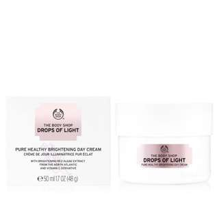 The body shop drops of light day cream