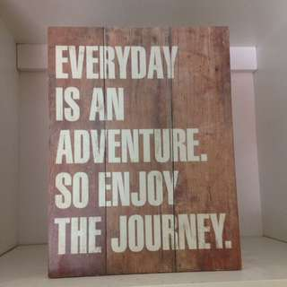 Wooden quote home decor