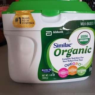 Similac organic infant milk stage 1. USDA certified