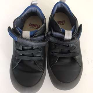 Camper for Kids black leather trainers