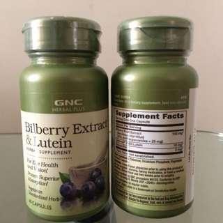 GNC Bilberry Extract & Lutien 山桑子精華(藍莓)+葉黃素 (60粒)