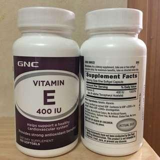 ☆抗氧化☆提升膚肌質素☆抗自由基☆ GNC 維他命E400 IU 100粒 Vitamin E400 IU