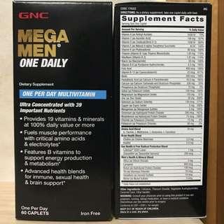 GNC 男士綜合維他命 (Mega Men One Daily) 60粒
