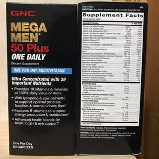 GNC 男士50+綜合維他命 (Mega Men 50 Plus One Daily) 60粒