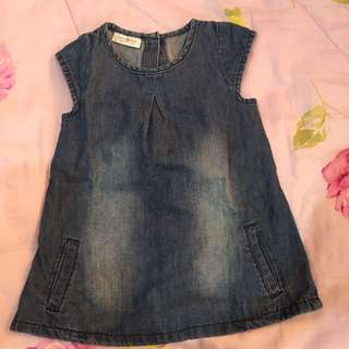 Next Baby Faded Denim Dress