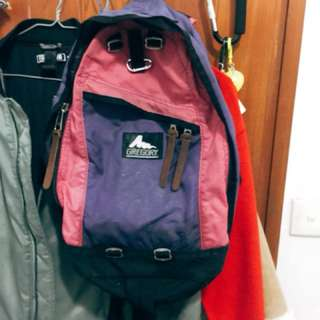 600元 九成新Gregory daypack backpack 紫色 桃紅色 粉紅色 背囊背包