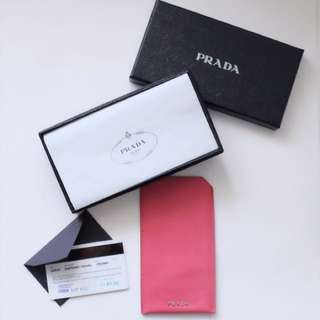 AUTHENTIC PRADA Leather  iPhone 7, iPhone 6 Case