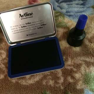 Artline stamp pad with ink refill
