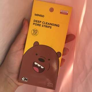 We Bare Bears Deep Cleansing Pore Strips
