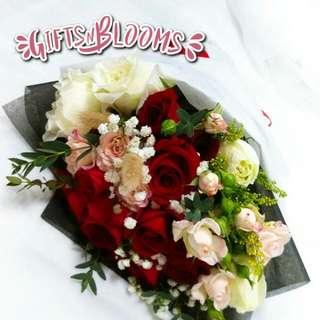 Valentine's Bouquet Vday Flower Gift Special V208 - CTRYU     68
